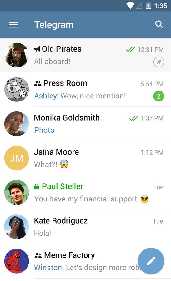 Telegram Page